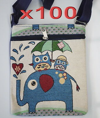 100pc Clearance Sale Owl Elephant Canvas Crossbody Bags Women Girl Handbag