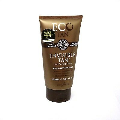 ON SALE! ECO TAN Organic Instant Self Tanning Cream Invisible Tan RRP$34.95