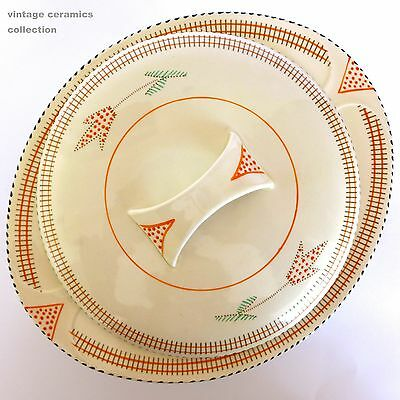 1930s Art Deco Hand Painted BURLEIGH WARE BALMORAL Tureen 6163 Regal Pottery