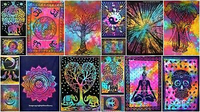 Indian Wall Cotton Mandala Poster Tapestry Ethnic Handmade Table Cover Hanging