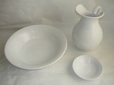 Set TOILET bowl pitcher saucer ceramics CASTELLI