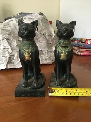 Ancient Egyptian Statue Black Cats 🐈