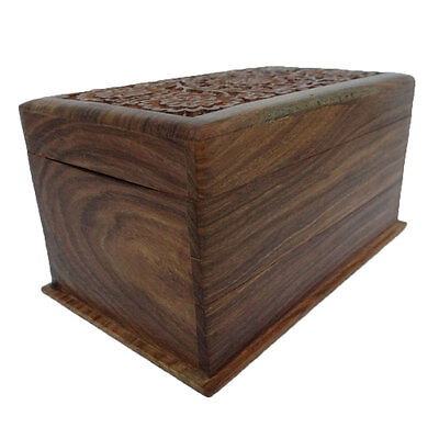 Antique Handmade Wooden Box Vintage Style Small Jewelry  Storage Trunk SWB21