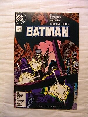 Batman #406  DC Comics Year One Frank Miller David Mazzucchelli