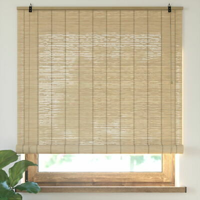 New bamboo Roller Blind Window Hanging Sunshade 4 Colours 9 Sizes Selectable