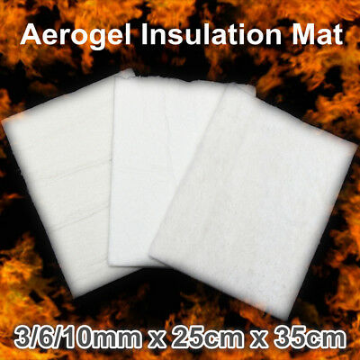 25x35cm Super Light Silica Aerogel Insulation Hydrophobic Mat Materials 3/6/10mm
