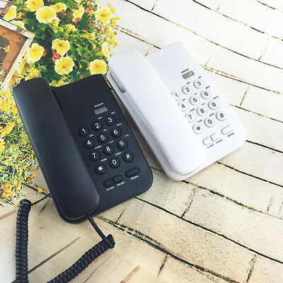 NEW White Black Desktop Home Wall Mount Office Corded Phone Telephone