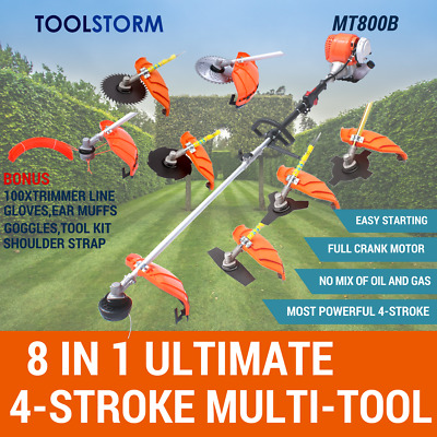 4-STROKE Brush Cutter Whipper Snipper Trimmer Edger Brushcutter Multi Pole Tool