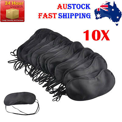 10X Black Travel Sleeping Eye Mask Bulk Buy Blindfold Shade Cover Sleep Mask