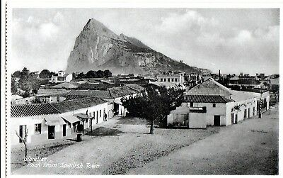 Postcard - View of Spanish Town, Gibraltar. Unposted. Looks early.
