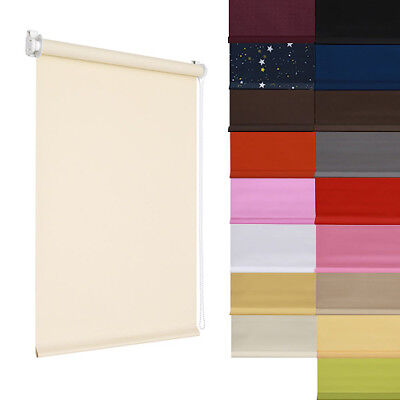 Roller Blinds Blackout Blind Easy Fit PVC Mini Window Windows Many Size/Colours