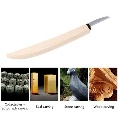 18cm Knife Beech Wood Working Banana Type Handle Wood Carving DIY Tool