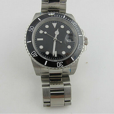Parnis Submariner Watch 2813 Movement Ss Ceramic Bezel Sapphire Crystal