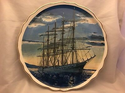 France II 2 Collectible Plate Sailing Ship James Kent Old Foley 27cm Maritime