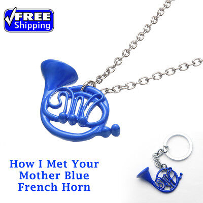How I Met Your Mother Blue French Horn Necklace Pendant & keychain Free Shipping
