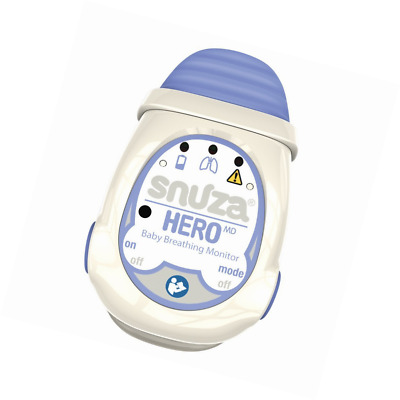 Snuza Hero MD Portable Baby Breathing Monitor NO Cords Wire Pads External Power