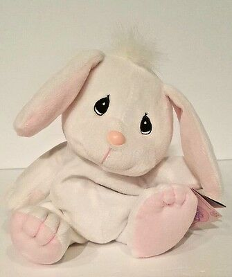 Precious Moments Tender Tails  White Bunny  Stuffed Animal Doll