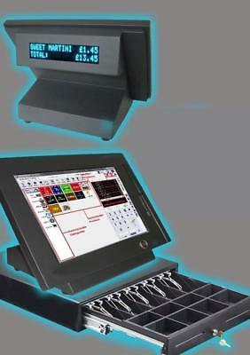 Ultra budget epos system, fully licenced software system terminal touch pos No m