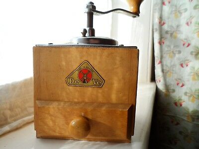 Vintage wooden coffee grinder from Holland