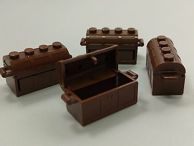 Bulk Lot Lego Part No.4738: Brown Container, Treasure Chest, Complete Assembly