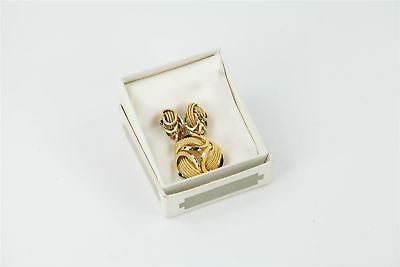 Genuine Vintage Christian Dior Matching Brooch & Clip-On Earrings BOXED 49g
