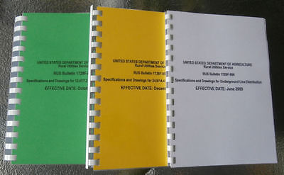 USDA RURAL ELECTRIC SERVICE BOOKS  Little Yellow Book