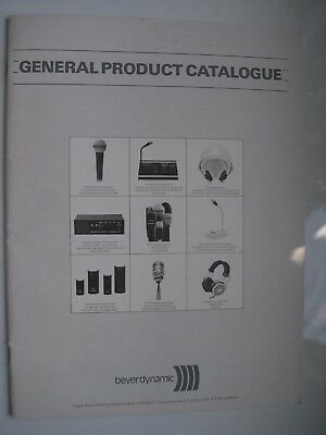Beyer Dynamic 40 Page Vintage Uk Product Catalogue Original 1981 Made In Germany