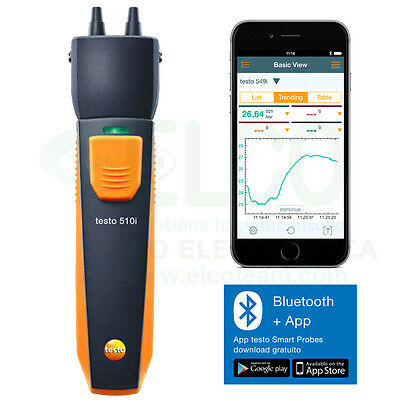 Manometer Differential Bluetooth with App for Smartphone Testo 510i