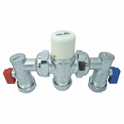 Dart Valley Systems   4 in 1 Thermostatic Mixing Valve 15/22mm  Chrome