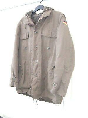 German Army Hooded  Parka , Complete with Fleece Lining , Great Winter Coat .
