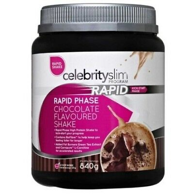 Celebrity Slim Rapid Program Weight Loss Shake 840g | All Flavours Available NEW