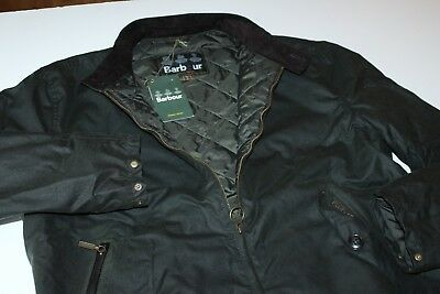 Barbour Jacket Coat Waxed Elgin MWX1093SG51 Sage New Extra Large  XL