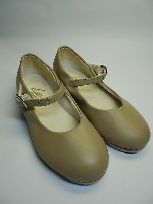 Toddler/Child's LEO'S Tan Mary Jane Tap Shoes Size  M 9 S (07512) Brazil