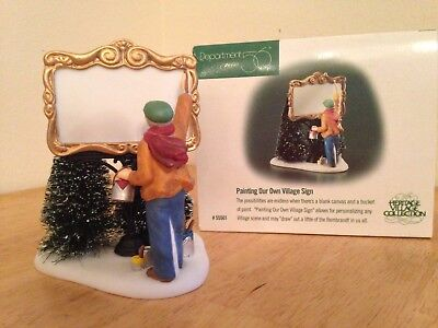 Department 56 Heritage Village - PAINTING OUR OWN VILLAGE SIGN - Dept 55501 NEW!
