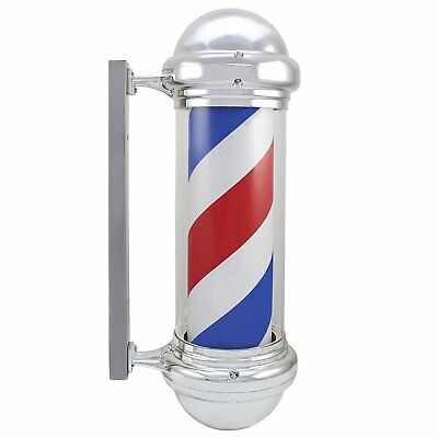Outdoor LED Barber Pole, Rotating & Illuminated Salon Sign, 72cm Large (94)