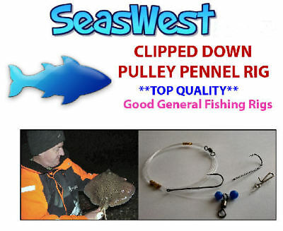6//0  x 5 packs good for Cod and Bass Pulley Pennel rigs size 5//0