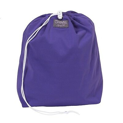 New! GroVia Wet Bag - Drawstring Tote - Limited Edition - Little Warrior Purple