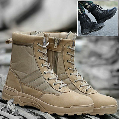 Latest Men's Combat Boots Round Toe Desert Battle Boots Ankle Protection Shoes