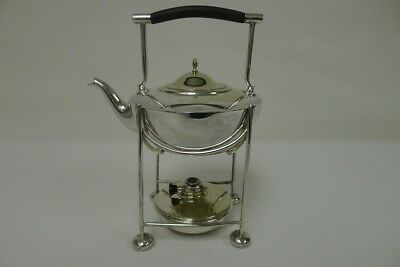 Art Deco Period Silver Plated Teapot on Stand with Oil Burner