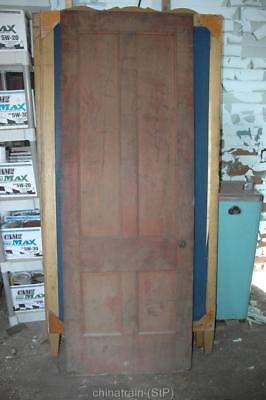 Antique Vintage Solid Wood 4 Panel Door 83.75 x 30""
