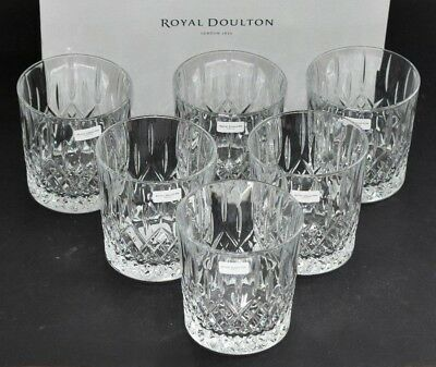 Royal Doulton Crystal ~ Earlswood Cut ~ Set Of Six 300ml Tumblers ~ BOXED NEW