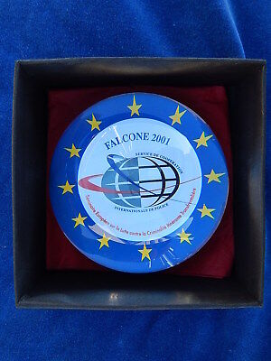 PRESSE PAPIER / Paperweight - SULFURE - FALCONE 2001 - POLICE EUROPE - TOP+++ !
