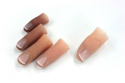 Female Finger TIP Prosthetic in Soft Silicone, Partially Hollow Inside
