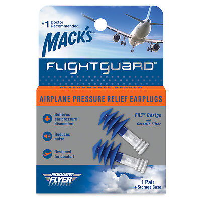 Mack's Flightguard Airplane Pressure Relief Ear Plugs - 1 Pair / Pack