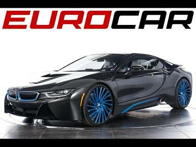 2015 BMW i8 Base Coupe 2-Door 2015 BMW i8 - Pure Impulse Word Interior ($10,800), BLUE CUSTOM WHEELS!