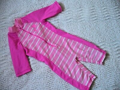 Mothercare Girls  Uv One Piece Suit Swimsuit Pink 12-18 Months Exc.cond.