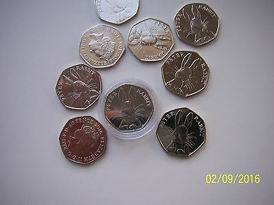 1 Peter Rabbit Uncirculated 50P Coins Brand New Very Collectable
