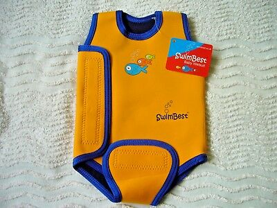 Bnwt 'swimbest' Unisex Baby Wetsuit 0-6 Months Provides Warmth & Sun Protection