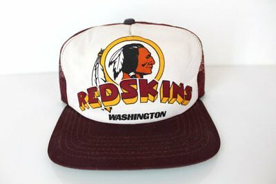 c883cec1e74 Vintage 80 s Washington Redskins NFL Snapback Adult Baseball Cap Trucker Hat