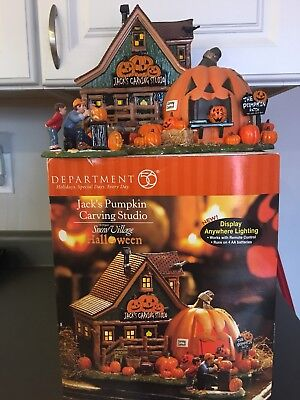 "Department 56 Halloween ""Jack's Pumpkin Carving Studio"" #54600 RARE"